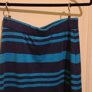 Cotton knit tube maxi